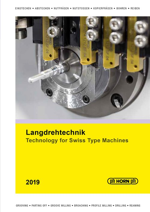 catalog TECHNOLOGY FOR SWISS TYPE MACHINES